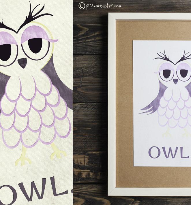 Owl poster freebie
