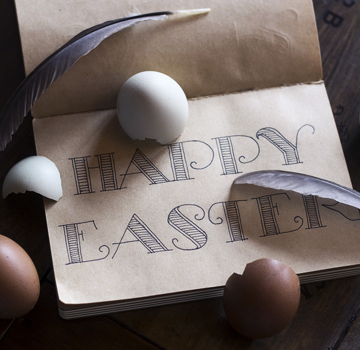 Happy Easter easy lettering 'how to'