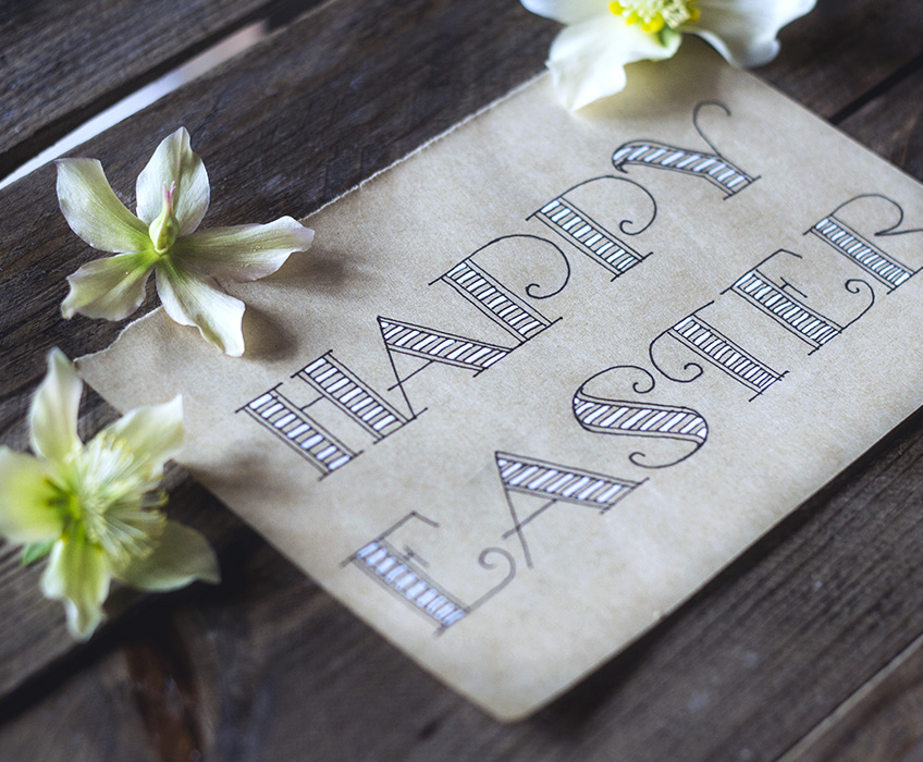 HAPPY EASTER! Step-by-step lettering tutorial with images by Annika Olsson // www.annikaolsson.com